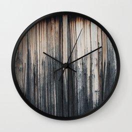 Weathered wood wall Wall Clock