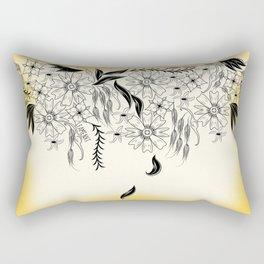 Hanging Floral Rectangular Pillow