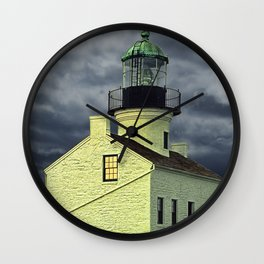 Cabrillo National Monument Lighthouse by San Diego in California Wall Clock