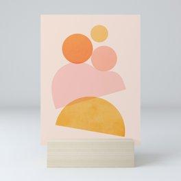 Abstraction_SHAPE_PLAYFUL_DAY_Minimalism_001 Mini Art Print