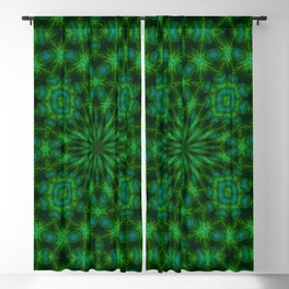 Green and Sky Blue Multicolored Boho Pattern Blackout Curtain