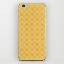 Faded yellow circles pattern iPhone Skin
