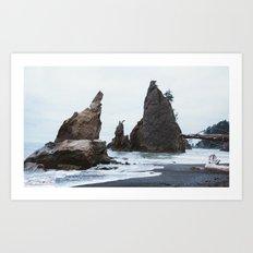 Sea Stacks at Rialto Beach Art Print