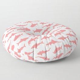 Light Coral Sharks Floor Pillow