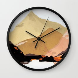 mountains abstract 2 Wall Clock