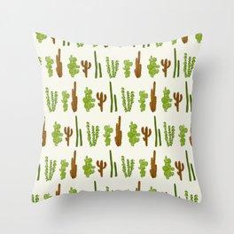 Palo Cactus Throw Pillow