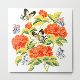 Butterflights Floral Metal Print