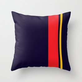 Navy Racer Throw Pillow