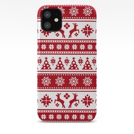 Christmas Holiday Nordic Pattern Cozy iPhone Case