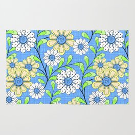 Bright floral pattern. Rug