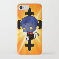 nightcrawler iPhone & iPod Cases featuring Chibi Nightcrawler by artwaste