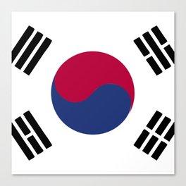 South Korea flag emblem Canvas Print