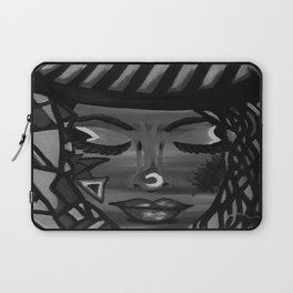 Focus by Lu, black-and-white Laptop Sleeve
