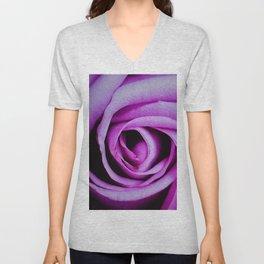 Swirled Purple Rose Petals Unisex V-Neck