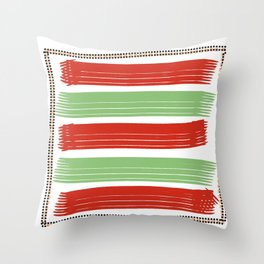 Lines & Dashes Throw Pillow