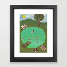 A Lake in the Sun Framed Art Print