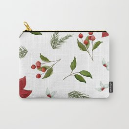 Get to the Poinsettia Carry-All Pouch