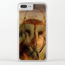 Dream Catcher and Magic Owl Clear iPhone Case