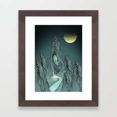 Don't get swallowed Framed Art Print