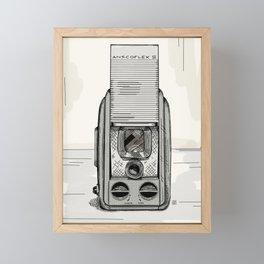 Anscoflex II Vintage Camera Framed Mini Art Print