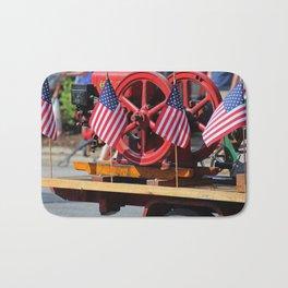 Flags on a Fire Truck Bath Mat