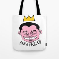 moriarty Tote Bags featuring Moriarty by Hypermeganeko