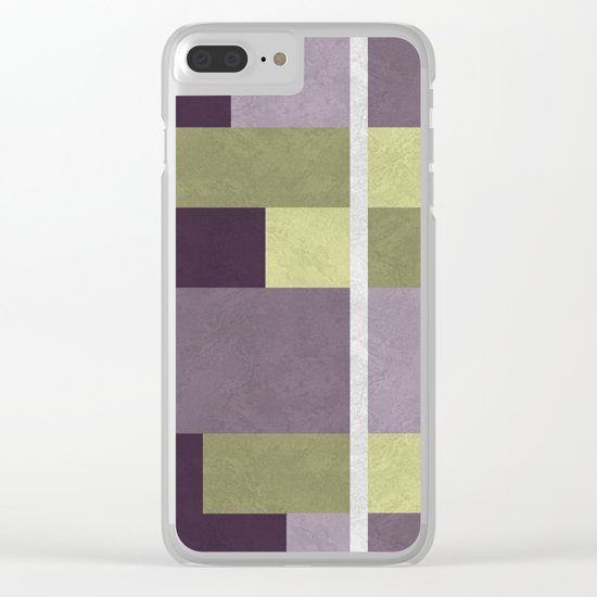 Geometric Marble 05 (abstract) Clear iPhone Case