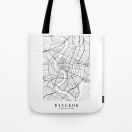 Bangkok Thailand Street Map Minimal Tote Bag