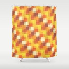Sunset Pixels Shower Curtain