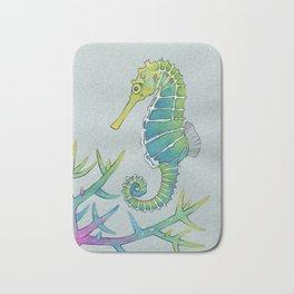 Neon Seahorse Bath Mat