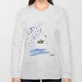 """Ohh, just rain"" french bulldog art by BoubouleArt Long Sleeve T-shirt"