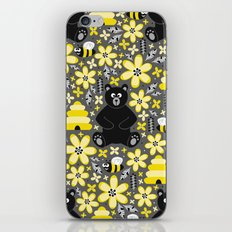 Bear and Bees iPhone Skin