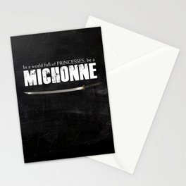 In a World full of Princesses, be a Michonne - black Stationery Cards
