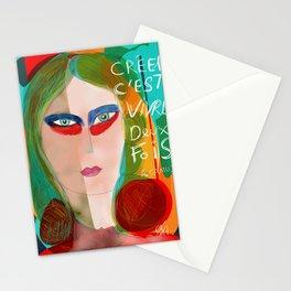 Pop Girl Albert Camus Words Stationery Cards