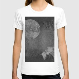 Moon with Horses in Grays T-shirt