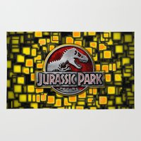 jurassic park Area & Throw Rugs featuring JURASSIC PARK by BeautyArtGalery