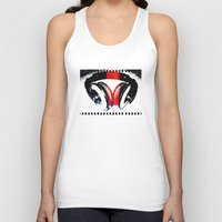 headphones Tank Tops featuring Headphones by Derek Fleener