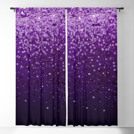 Purple Gradient Glitter Blackout Curtain