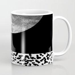 Maru - moon abstract painting texture black and white monochromatic urban brooklyn nature city Coffee Mug
