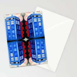 British Blue Police Public Call Box - Mirror 16 Stationery Cards