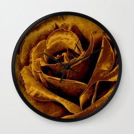 copper velvet rose Wall Clock