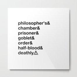 Potter Ampersand-Philoshoper's, chamber, prisoner, goblet, order, half blood, deathly Metal Print