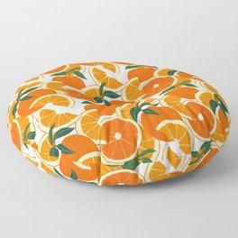 Orange Harvest - White Floor Pillow