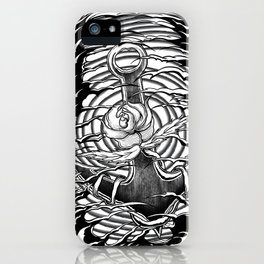 Rose and anchor iPhone Case