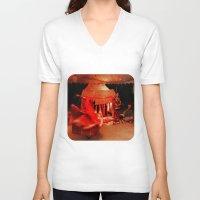 dancer V-neck T-shirts featuring Dancer  by Ethna Gillespie