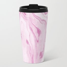 Asahi - spilled ink abstract marble swirl ocean water painting watercolor minimal abstract art Travel Mug