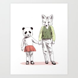 Bestial children Art Print