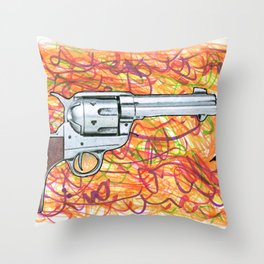 Quick draw Throw Pillow