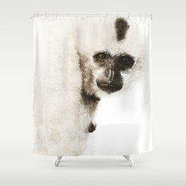 Crested Gibbon Shower Curtain