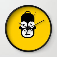 homer Wall Clocks featuring homer by atipo